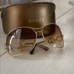Gold Gucci sunglasses